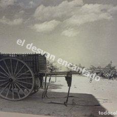 Fotografía antigua: ANTIGUA FOTOGRAFÍA DE CARRO O CARROMATO. LOCALIZADA EN GANDESA. 24 X 18. EN SOPORTE DE CARTÓN. Lote 178954178
