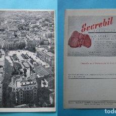 Fotografía antigua: VISTA DE ALBACETE - COL. PROVINCIAS DE ESPAÑA - CAPITALES - CON PUBLICIDAD DE FARMACIA - 16 X 21 CM. Lote 179026761
