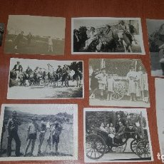 Fotografía antigua: 26 ANTIGUAS FOTOGRAFIAS, BOY SCOUTS, VESPA, HELADOS, NIÑOS, DE FIESTA, COCHE, ETC. Lote 179198236