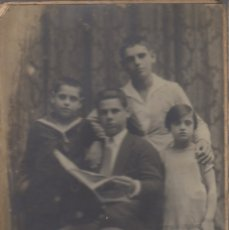 Fotografía antigua: FOTOGRAFIA FOTO FAMILIAR HERMANOS TALLERES FOTOGRAFICOS AMER CALLE QUINT PALMA DE MALLORCA . Lote 179198925