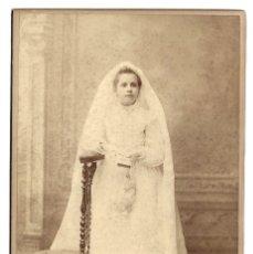 Fotografía antigua: R56- EXTRAORDINARIA FOTOGRAFIA ANTIGUA -NIÑA DE COMUNION-FOTO - ANGELIDIS- PARIS. Lote 179235658