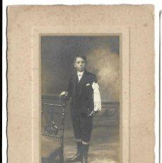 Fotografía antigua: R56- EXTRAORDINARIA FOTOGRAFIA ANTIGUA -NIÑO DE COMUNION- FOTO - DELHOUME - LIMOGES. Lote 179242732