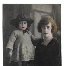 Fotografía antigua: R56- EXTRAORDINARIA FOTOGRAFIA ANTIGUA - MADRE E HIJA- FOTO - - - - - - . Lote 179311318