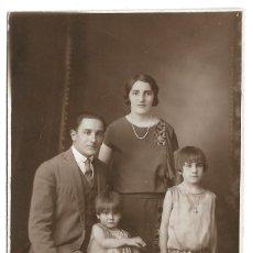 Fotografía antigua: R56- EXTRAORDINARIA FOTOGRAFIA ANTIGUA - MATRIMONI E HIJAS - FOTO - BONACORSI-BEL VILLE- DE 1.928. Lote 179314843