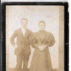 Fotografía antigua: R56- EXTRAORDINARIA FOTOGRAFIA ANTIGUA - UN MATRIMONIO - FOTO - - - - - . Lote 179317816