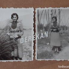 Fotografía antigua: LOTE 2 ANTIGUAS FOTOGRAFÍAS MUJER JOVEN. AÑOS 40. YECLA. MURCIA. TROQUELADAS.. Lote 179324612
