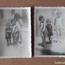 Fotografía antigua: LOTE 2 ANTIGUAS FOTOGRAFÍAS NIÑOS. FOTO-STUDIO SECCIÓN DE AFICIONADOS. ALCOY. ALICANTE. TROQUELADAS.. Lote 179326327