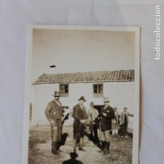 Fotografía antigua: FOTOGRAFIA CAZADORES, MONTERIA DE LA VIRGEN DE LA CABEZA, NOVIEMBRE 1925. Lote 179534311
