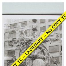 Fotografía antigua: FOTOGRAFÍA VALENCIA FALLA - PLAZA DEL CAUDILLO - FALLA DE LOS TAXISTAS - 1966. Lote 179557326