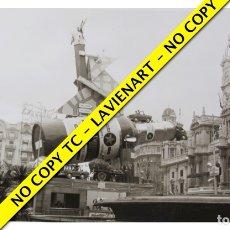 Fotografía antigua: FOTOGRAFÍA VALENCIA FALLA - PLAZA DEL CAUDILLO - 1968. Lote 179557433