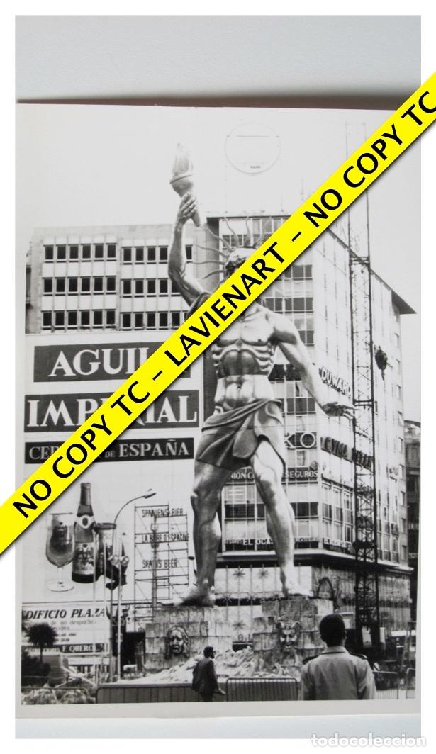 FOTOGRAFÍA VALENCIA FALLA - PLAZA CAUDILLO - FUERA CONCURSO - 1971 (Fotografía - Artística)