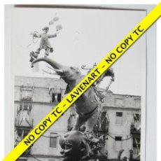 Fotografía antigua: FOTOGRAFÍA VALENCIA FALLA - PLAZA PILAR - 5º PREMIO - 1970. Lote 179557862
