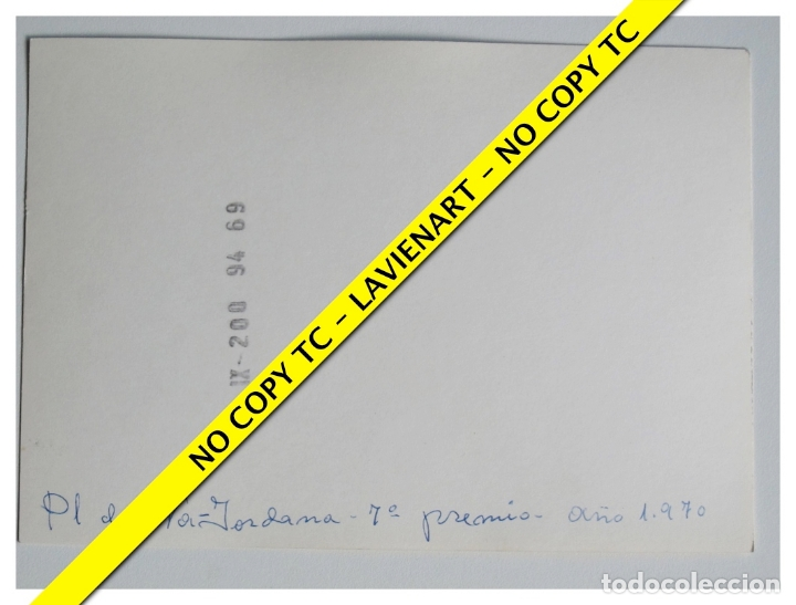 Fotografía antigua: FOTOGRAFÍA VALENCIA FALLA - NA JORDANA - 7º PREMIO - 1970 - Foto 2 - 179557903