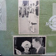 Fotografía antigua: 2 FOTOGRAFÍAS DE KENNEDY CON GRACE KELLY Y CON SU HIJA. CON EXPLICACIÓN DETRÁS.. Lote 179963926