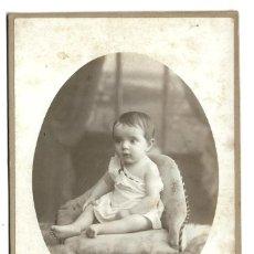 Fotografía antigua: E94-EXTRAORDINARIA FOTOGRAFIA ANTIGUA - UNA NIÑA -FOTO - AMERICAINE - LYON. Lote 180078445