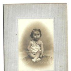 Fotografía antigua: E94-EXTRAORDINARIA FOTOGRAFIA ANTIGUA - UNA NIÑA -FOTO - PLARET - PARIS. Lote 180078572