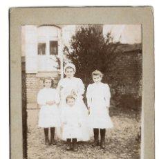 Fotografía antigua: E94-EXTRAORDINARIA FOTOGRAFIA ANTIGUA - CUATRO HERMANAS -FOTO - J. BISSONNIER. Lote 180079392