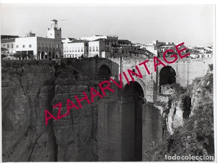 ANTIGUA FOTOGRAFIA DEL PUENTE NUEVO DE RONDA, 23X17 CMS (Fotografía - Artística)