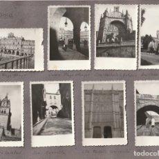 Fotografía antigua: OCHO FOTOGRAFIAS DE SALAMANCA AÑOS 50 PEGADAS A UNA CARTULINA - -R-7. Lote 180113615