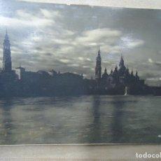 Fotografía antigua: ZARAGOZA ORIGINAL FOTO DE LOTY FIRMADA SE PRESENTA EN UNA CARTULINA ORIGINAL Y DE ÉPOCA 13X18,5. Lote 180133871