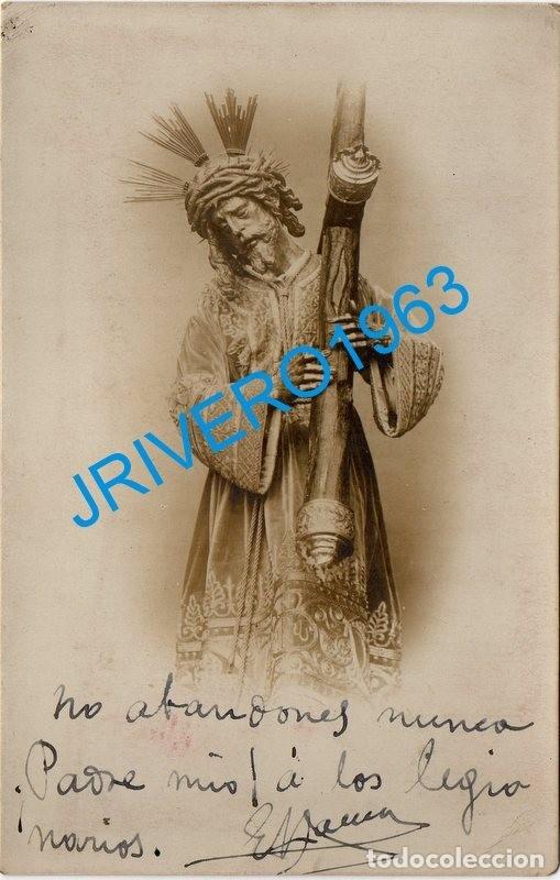 SEMANA SANTA SEVILLA, ANTIQUISIMA FOTOGRAFIA NTRO.PADRE JESUS DEL GRAN PODER, 90X140MM (Fotografía - Artística)