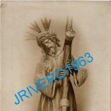 Fotografía antigua: SEMANA SANTA SEVILLA, ANTIQUISIMA FOTOGRAFIA NTRO.PADRE JESUS DEL GRAN PODER, 90X140MM. Lote 180411930