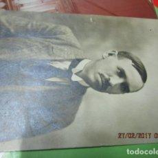 Fotografía antigua: FOTO ANTIGUA MALAGA SEÑOR MANUSCRITO EN REFESO Y FIRMA EN 1918. Lote 180431816