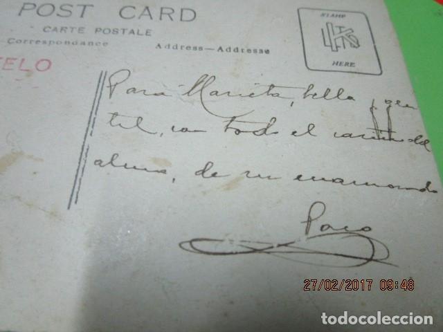 Fotografía antigua: FOTO ANTIGUA MALAGA SEÑOR MANUSCRITO EN REFESO Y FIRMA EN 1918 - Foto 3 - 180431816