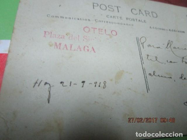 Fotografía antigua: FOTO ANTIGUA MALAGA SEÑOR MANUSCRITO EN REFESO Y FIRMA EN 1918 - Foto 4 - 180431816