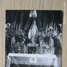 Fotografía antigua: FOTOGRAFIA VIRGEN DE LOURDES EN CAPILLA, FOTOGRAFO ALEDO, LORCA, FERNANDO EL SANTO 3. Lote 180970513