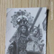 Fotografía antigua: FOTOGRAFIA TROQUELADA VIRGEN DEL CARMEN PROCESIONANDO EN LORCA. Lote 180971173