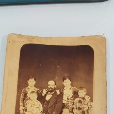 Fotografía antigua: FOTOGRAFIA RETRATO DE FAMILIA. Lote 180976576