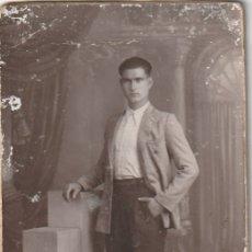 Fotografía antigua: FOTOGRAFIA CABALLERO FOTOGRAFO F. SANCHIS VALENCIA - -R-7. Lote 181210317