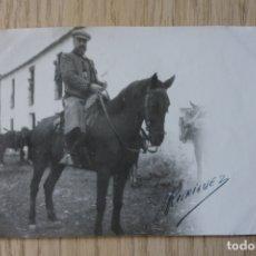 Fotografía antigua: FOTOGRAFIA SEÑOR A CABALLO, MONTERIA VIRGEN DE LA CABEZA 1924. Lote 181473550