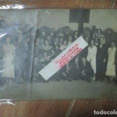 Fotografía antigua: MIRANDA EBRO ANTIGUA FOTO GRANDE AÑOS 20 MIRANDESES EN FIESTAS. Lote 181568793