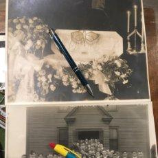 Fotografía antigua: FRANCIA.DOS FOTOGRAFÍAS DEL ENTIERRO DE UN NIÑO, ATAUD ABIERTO,PRINCIPIOS SIGLO XX. MIDEN 25 X 20,5. Lote 181710168