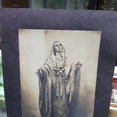 Fotografía antigua: ANTIGUA GRAN FOTOGRAFIA RELIGIOSA VIRGEN DOLOROSA SALZILLO FOTO C ORTEGA MURCIA. Lote 182095675