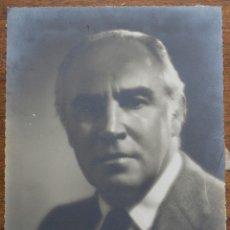 Fotografía antigua: FOTOGRAFIA DE ESTEVE MONEGAL PRATS- FUNDADOR DE MYRURGIA- 1888-1970. Lote 182598411