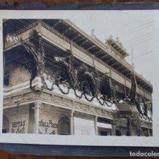 Fotografía antigua: FOTO ORIGINAL- INAUGURACIÓN BLOCK NACIONALISTA CATHALONIA. MOMENTO DE IZAR BANDERA CATALANA- 1912 . Lote 182603892