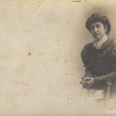 Fotografía antigua: FOTOGRAFIA FOTO ARTISTICA TARJETA POSTAL SEÑORA MODERNISTA . Lote 182721550