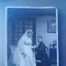 Fotografía antigua: ANTIGUA FOTOGRAFIA DE ESTUDIO BODA - PRINCIPIOS DEL SIGLO XX. Lote 182744022