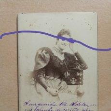 Fotografía antigua: FOTOGRAFÍA ANTIGUA. DAMA. FOTÓGRAFO NAPOLEÓN. BARCELONA... Lote 183285015