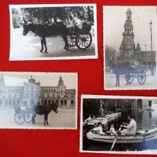 Fotografía antigua: CUATRO FOTOS REALIZADAS EN EL PARQUE DE MARÍA LUISA EN SEVILLA, DOS DE 1952 Y DOS DE 1954. Lote 183831606