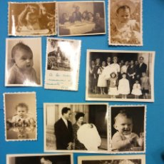 Fotografía antigua: LOTE DE FOTOGRAFÍAS ANTIGUAS FAMILIARES. Lote 183886180