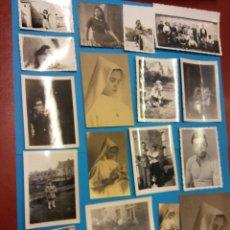 Fotografía antigua: LOTE DE FOTOGRAFÍAS ANTIGUAS FAMILIARES. Lote 184005470