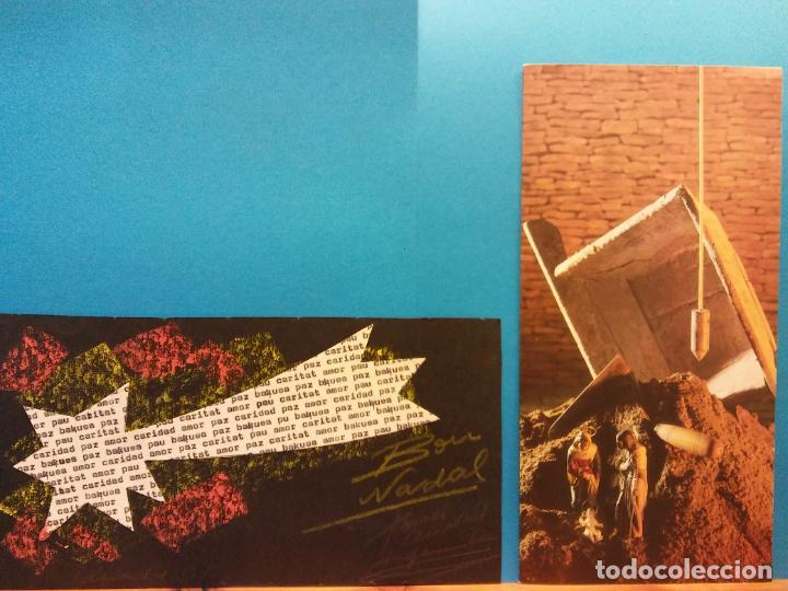 Fotografía antigua: LOTE DE HERMOSAS POSTALES Y TARJETAS NAVIDEÑAS - Foto 2 - 184077135