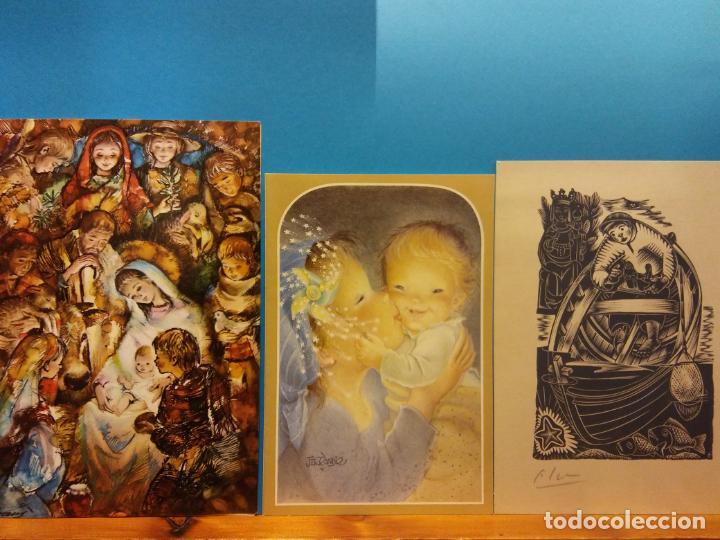 Fotografía antigua: LOTE DE HERMOSAS POSTALES Y TARJETAS NAVIDEÑAS - Foto 46 - 184077135