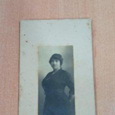 Fotografía antigua: ANTIGUA FOTOGRAFÍA. DAMA. FOTOGRAFÍA BRASIL. LISBOA. FECHADA EN 1915. Lote 184115402