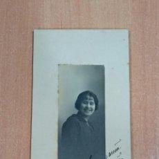 Fotografía antigua: ANTIGUA FOTOGRAFÍA. DAMA. FOTOGRAFÍA BRASIL. LISBOA. FECHADA EN 1915. Lote 184115448