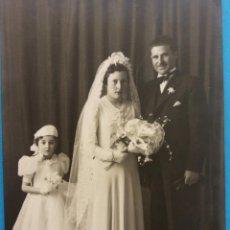Fotografía antigua: FOTOGRAFÍA ANTIGUA. NOCES DE ANTONIA DOMINGO. Lote 184351780